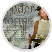 Domestic Considerations  Gender Norms Round Beach Towel by Ann Tracy