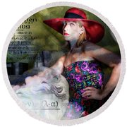 Domestic Considerations Kronos' Daughter Round Beach Towel by Ann Tracy