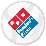 Domino's T-shirt Round Beach Towel