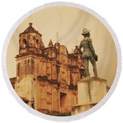 Don Quixote  Round Beach Towel