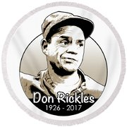 Don Rickles Round Beach Towel by Greg Joens