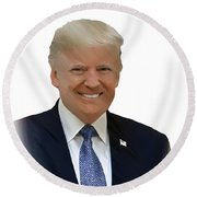 Donald Trump - Dwp0080231 Round Beach Towel