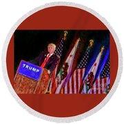 Donald Trump Make America Great Rally Round Beach Towel