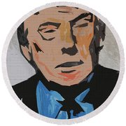 Donald Trump Round Beach Towel by Robert Margetts