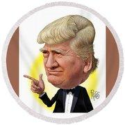 Donald Trump Round Beach Towel