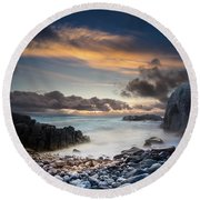 Donegal Sunset 5 Round Beach Towel