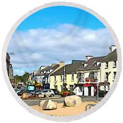 Donegal Town Round Beach Towel