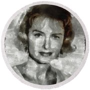 Donna Reed Vintage Hollywood Actress Round Beach Towel