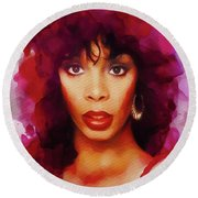 Donna Summer, Music Legend Round Beach Towel