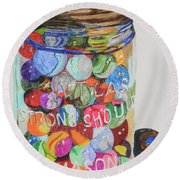 Don't Lose Your Marbles Round Beach Towel