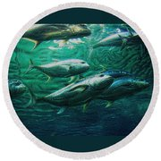 Round Beach Towel featuring the photograph Don't Mess With Bluefin Jack by Glenn McCarthy