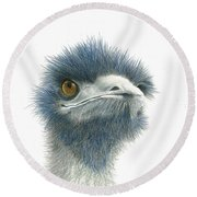 Dont Mess With Emu Round Beach Towel by Phyllis Howard