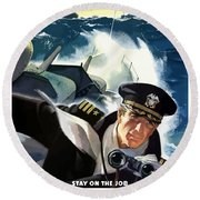 Don't Slow Up The Ship - Ww2 Round Beach Towel