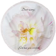 Don't Worry Square Round Beach Towel