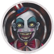 Don't You Like Clowns?  Round Beach Towel by Abril Andrade Griffith