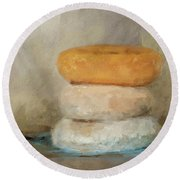 Donut Day Round Beach Towel