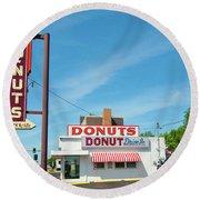Donut Drive In Round Beach Towel