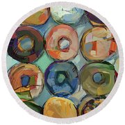 Donuts Galore Round Beach Towel