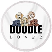 Doodle Lover Round Beach Towel