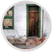 Round Beach Towel featuring the photograph Door 345 by Lynn Geoffroy