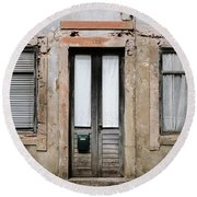 Round Beach Towel featuring the photograph Door No 128 by Marco Oliveira