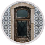 Round Beach Towel featuring the photograph Door No 151 by Marco Oliveira