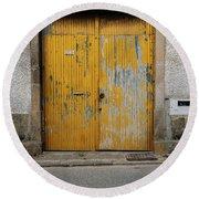 Round Beach Towel featuring the photograph Door No 152 by Marco Oliveira
