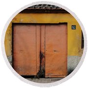 Round Beach Towel featuring the photograph Door No 162 by Marco Oliveira