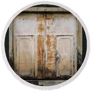 Round Beach Towel featuring the photograph Door No 163 by Marco Oliveira