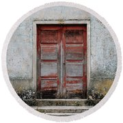 Round Beach Towel featuring the photograph Door No 175 by Marco Oliveira