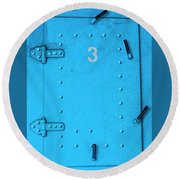 Round Beach Towel featuring the photograph Door Number 3 by Paul Wear