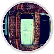 Round Beach Towel featuring the photograph Door To Nowhere by Yulia Kazansky