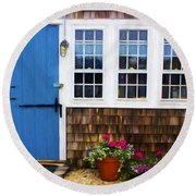 Blue Door - Doors And Windows Series 01 Round Beach Towel