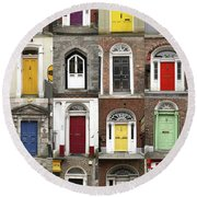 Doors Of Limerick Round Beach Towel