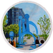 Toronto Canary District - Doors Open Toronto Round Beach Towel