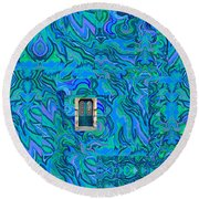 Doorway Into Multi-layers Of Water Art Collage Round Beach Towel