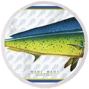Dorado Side Id Round Beach Towel