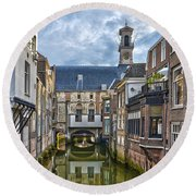 Round Beach Towel featuring the photograph Dordrecht Town Hall by Frans Blok