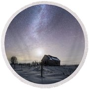 Round Beach Towel featuring the photograph Dormant by Aaron J Groen