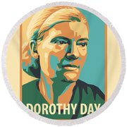 Dorothy Day, 1938 - Jldyd Round Beach Towel