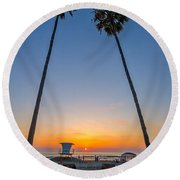 Dos Palms Round Beach Towel