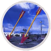 Double Arrows Round Beach Towel