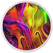 Double Bass Solo Round Beach Towel