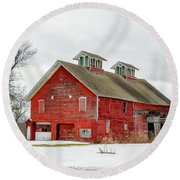 Double Cupola Barn Round Beach Towel