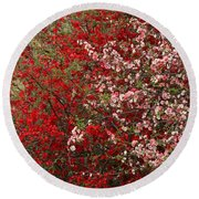 Double Quince Round Beach Towel
