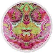 Double Rhapsody- Art By Linda Woods Round Beach Towel