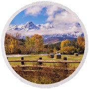 Double Rl Ranch Round Beach Towel