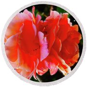 Double Rose Round Beach Towel by Mark Blauhoefer