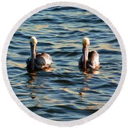 Double Trouble Round Beach Towel