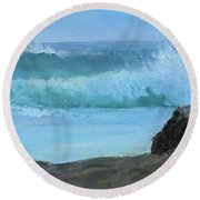 Double Wave Round Beach Towel